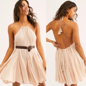Free People Catching Rays crepe halter dress